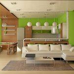 красивый декор кухни гостиной с перегородкой картинка