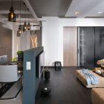 красивый стиль кухни гостиной с перегородкой фото