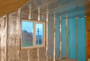 утепление дома пенофолом изнутри