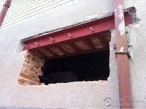 Изготовление оконного проема в готовой стене