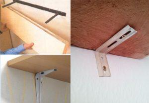 Крепеж для полок к стене своими руками
