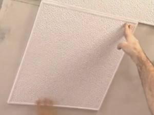Из чего сделаны потолочные плитки
