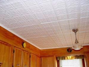 Способы поклейки потолочной плитки