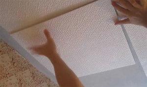 Особенности отделки потолка плиткой