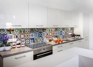 кафель на кухне на стене фото