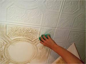 Плитка для обклейки потолка