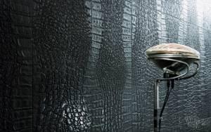 Оригинальное решение для отделки стен — материалы из кожи