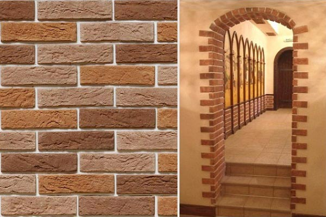 Оформление арки декоративным камнем