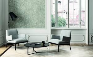 Фото № 1: Что такое флоковое покрытие стен: особенность декоративной штукатурки