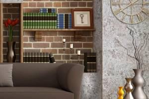 Фото № 3: Что такое флоковое покрытие стен: особенность декоративной штукатурки