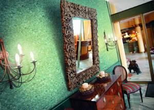 Фото № 7: Что такое флоковое покрытие стен: особенность декоративной штукатурки