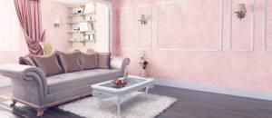 Фото № 8: Что такое флоковое покрытие стен: особенность декоративной штукатурки