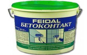 Фирма Feigal первая выпустила на рынок грунтовку для улучшения адгезии с плохо впитывающими основаниями