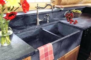 Каменная раковина на кухню
