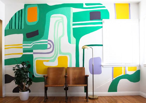 Роспись стен в интерьере. Подборка фото и идей.