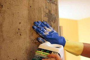 покраска бетонных стен