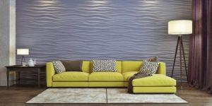 Гипсовые стеновые 3д панели в интерьере фото