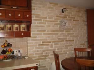 Такими панелями можно сделать облицовку ванной или кухни, не боясь, что панель вздуется