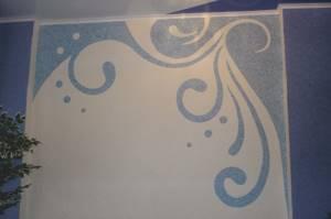 Жидкие обои с абстрактным рисунком в голубом цвете