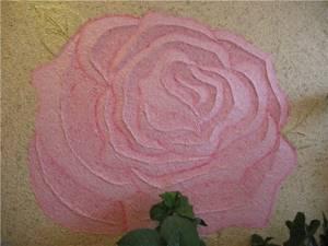 Жидкие обои с объёмным рисунком розы