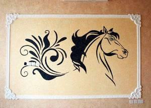 Жидкие обои с рисунком лошади