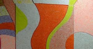 Жидкие обои с ярким абстрактным рисунком
